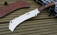 Fixed blade hunting knife with sheath D2 steel tanto blade and micarta handle