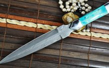 Full Tang Beautiful Damascus Knife Perfect for Bushcraft and Camping