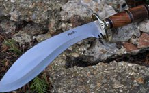 HANDCRAFTED BOWIE KNIFE 440C STEEL & BURL WOOD -T1