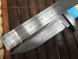 Fixed Blade Hunting Knife - Damascus Steel Full Tang