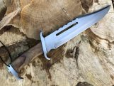 16 Inches Tactical Bowie Knife With Leather Sheath
