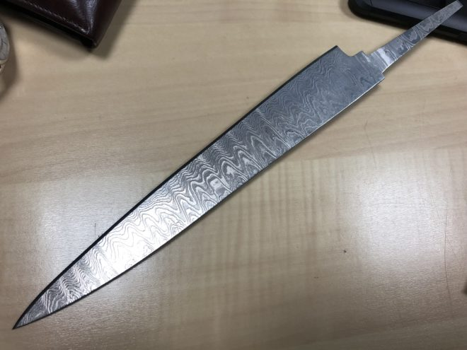 Damascus Steel Chef Knife Blank