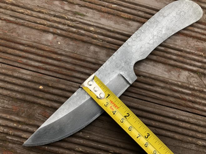 8.5 Inches Damascus Steel Blade - BL-100