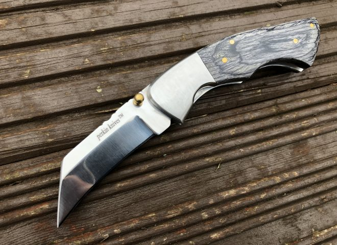 Folding Pocket Knife With Pakka Wood Handle