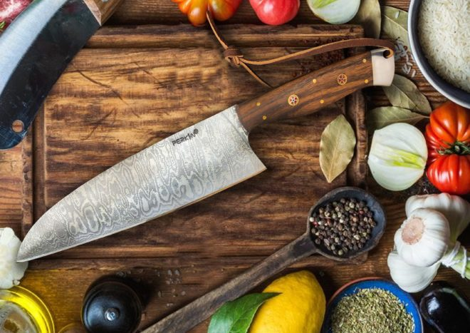 13 Inches Damascus Steel Chef Knife - Full Tang Damascus Knife