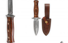 Damascus steel Hunting knife bowie knife with Sheath