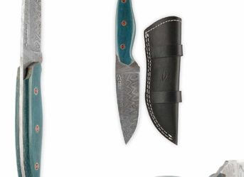 Perkin FB405 Handmade Damascus Steel Hunting Knife with Sheath