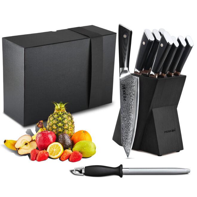 Damascus Knife Set Damascus Chef knife Professional Kitchen Knives