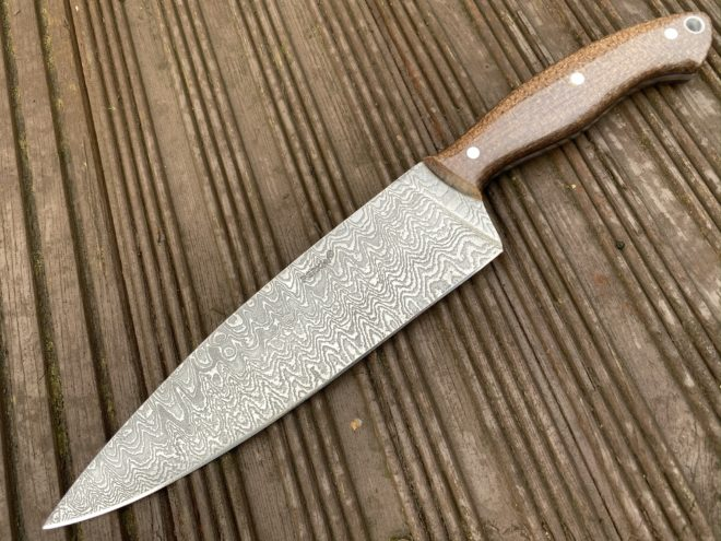 13 Inches Damascus Steel Knife Damascus Chef Knife Full Tang - PSC470