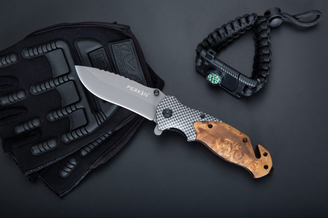 Perkin Pocket Knife Folding Hunting Knife Tactical Knife PKF1003