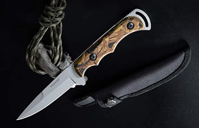 Perkin Fixed Blade Hunting Knife with Sheat