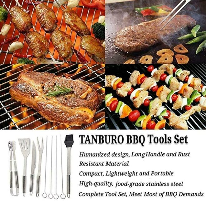 Perkin BBQ Utensil Set with Case