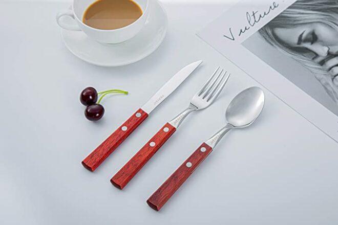 Perkin Tableware Cutlery Set 3Pcs (Red)