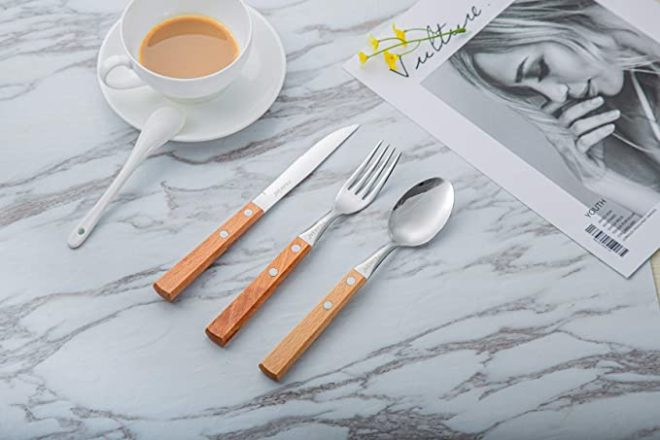 Perkin Tableware Cutlery Set 3Pcs (Light Brown)
