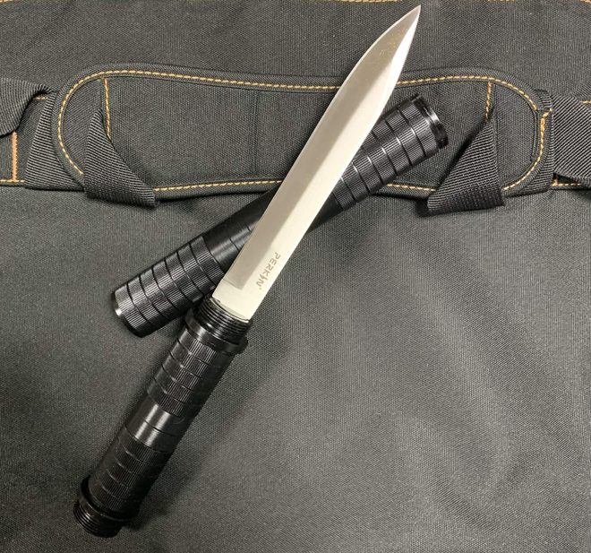 Perkin Fixed Blade Knives Fighting Knife Hunting Knives Survival Knife SHK (Black)
