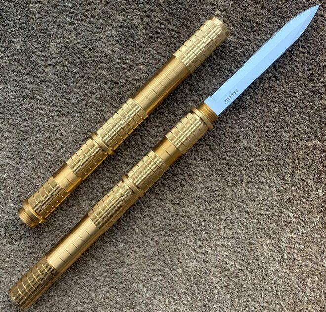 Perkin Fixed Blade Knives Fighting Knife Hunting Knives Survival Knife SHK (Golden)