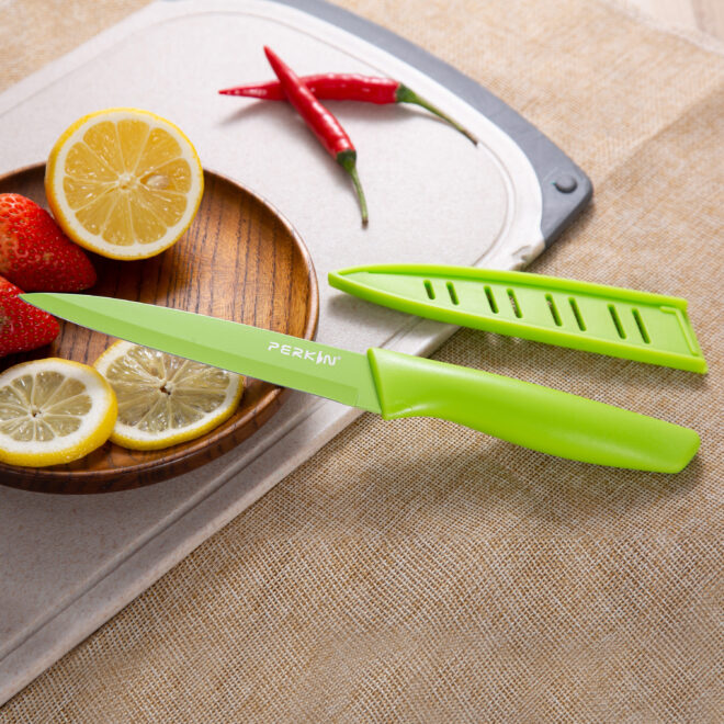 Utility Knife Kitchen Knife Cooking Knife Stainless Steel Sheath Knife Ergonomic Handle