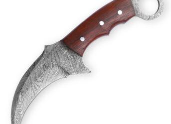 Perkin Knives Fixed Blade Damascus Steel Hunting Knife Karambit Knife KT101