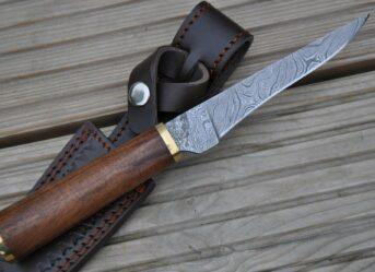 Perkin Knives - Custom Handmade Damascus Hunting Knife - Beautiful Boning Knife AR1005BN