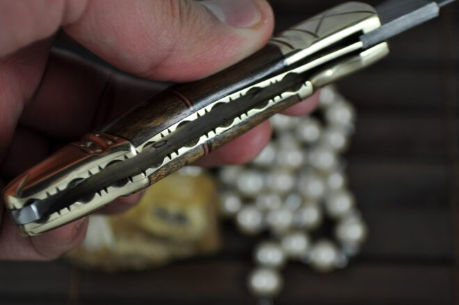 Perkin - Custom Handmade Damascus Folding Knife - Beautiful Pocket Knife - OQ