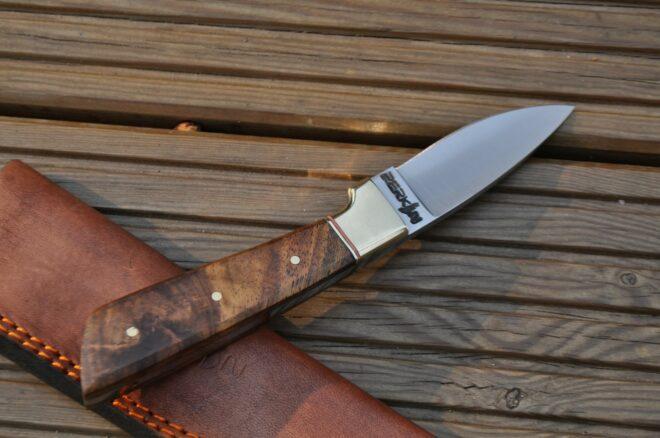 Perkin Knives - Handmade Hunting Knife With Sheath - AR700